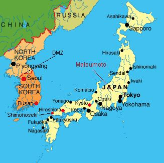 map of japan major cities n korea warns foreigners to leave south escape quot thermo