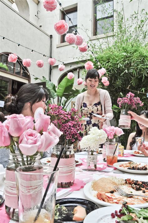outdoor bridal shower ideas beautiful asian hosts california bridal shower with