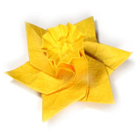 Daffodil Origami - how to make an origami daffodil flower page 26
