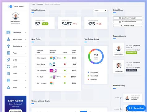 dashboard header design bootstrap the 20 best bootstrap admin templates 2018 athemes
