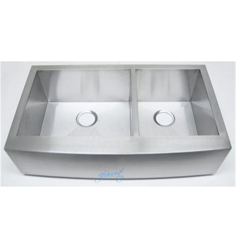 Curved Kitchen Sink 36 Inch Stainless Steel Curved Front Farmhouse Apron 60 40 Bowl Kitchen Sink