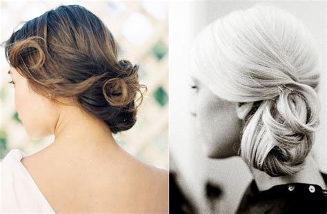 simple bridal updos outdoor wedding onewed