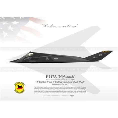 "F-117A ""Nighthawk"" 8FS ""Black Sheep"" JP-395 - Aviationgraphic F 117 Stealth Fighter Cockpit"