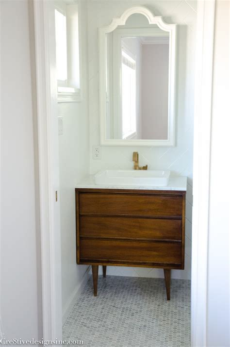 Mid Century Modern Bathroom Designing A Tiny Bathroom Cre8tive Designs Inc