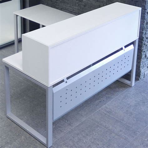 Trendspaces White L Shaped Reception Desk Small White Reception Desk