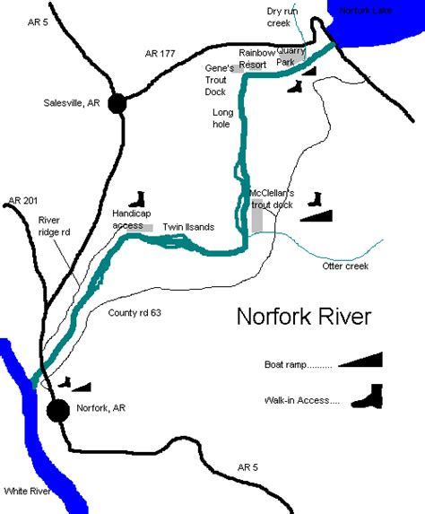 arkansas trout fishing maps pictures norfork