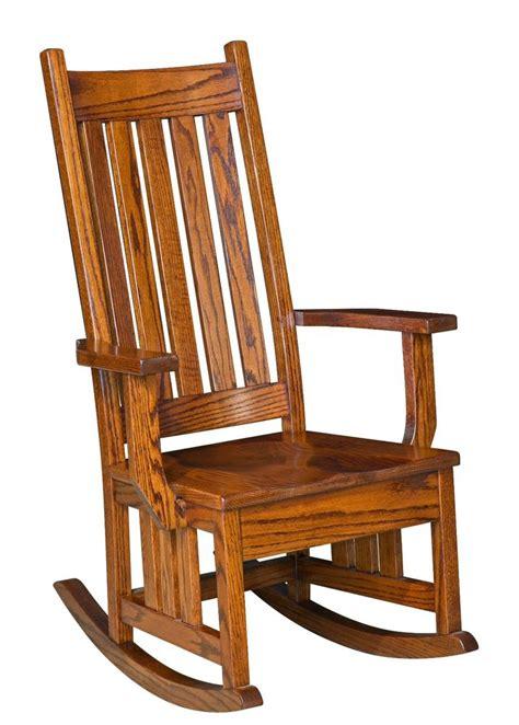 amish mission craftsman solid wood rocking chair rocker slat  harrisburg ebay