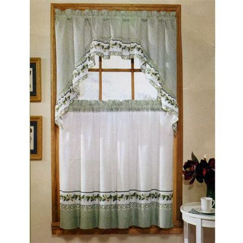 Swag Curtains For Kitchen Print 36 Quot Swag Kitchen Curtain Set By United For The Home Swag Kitchens And