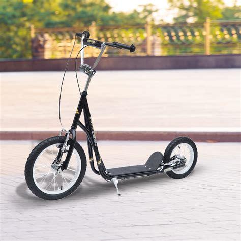 homcom tretroller scooter  zoll cityroller real