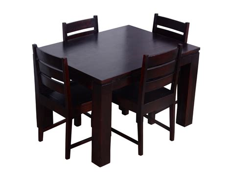 4 seater dining table altavista mirth 4 seater dining table set mahogany finish
