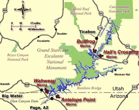 lake powell map lake powell maps lake powell resorts map