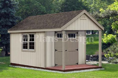 shed with porch plans free 14 x 10 cabin loft backyard shed with porch plans p61410 free material list