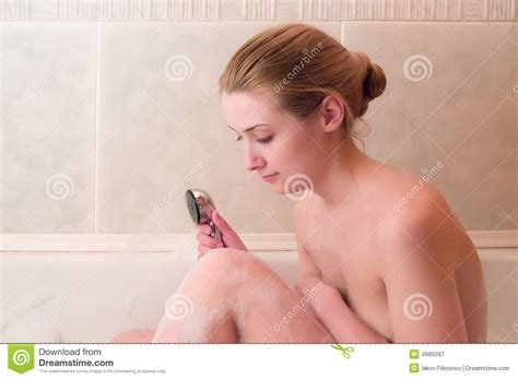 girl in the bathtub girl in bathroom royalty free stock photography image