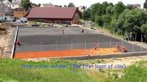 how much to build a tennis court in backyard stavba tenisov 253 ch kurtů tennis courts construction