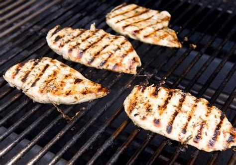 perfectly grilled chicken breasts with lemon zest garlic herb marinade