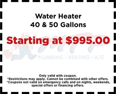 Heat And Plumb Coupon Code plumbing coupons hvac coupons heating cooling coupons