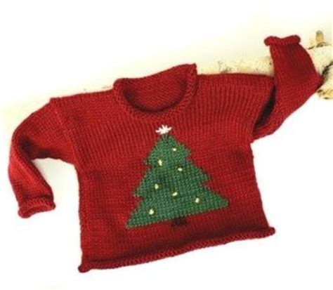 knitting pattern xmas jumper christmas tree sweater free knitting pattern baby time