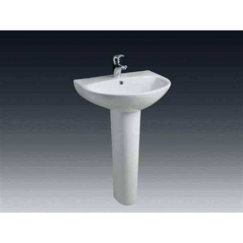 Superbe Leroy Merlin Colonne Salle De Bain #2: lavabo-pour-colonne-en-ceramique-blanc-nerea.jpg