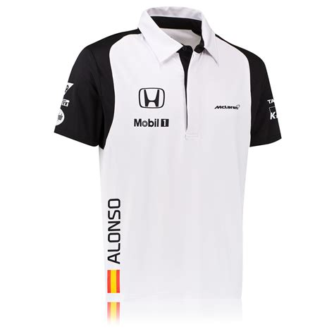 Mc Laren Raglan by Mclaren Honda Fernando Alonso Team Sleeve Polo Shirt