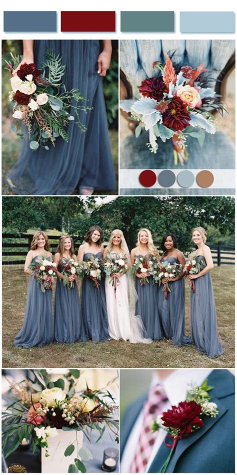 october wedding colors dusty blue wedding color combos inspired by 2017 pantone