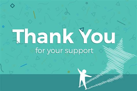 Thank You For Your Support Card Template by Thank You For Your Support At The Recent Consultation