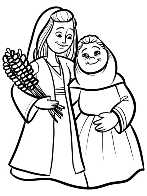 Ruth And Naomi Printable Coloring Pages Colorong Pictures Of Ruth Namio
