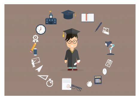 education ilustration education background illustration with bachelor and