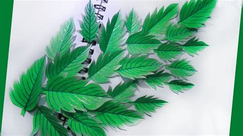 How To Make Paper Leaves For Flowers - leaf from paper diy paper craft how to