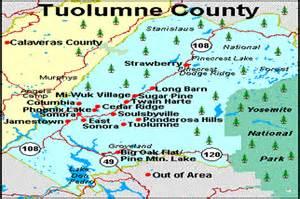 tuolumne county map