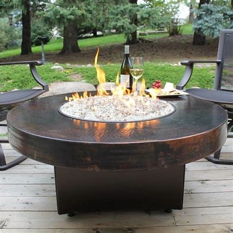 oriflamme pit 42 quot oriflamme hammered copper table