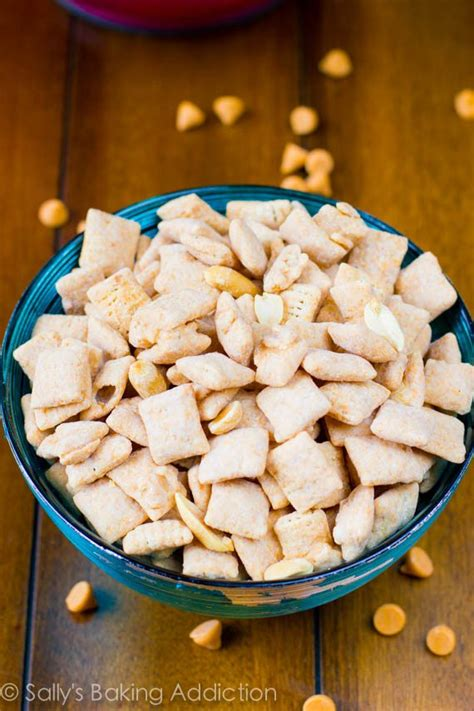 puppy chow recipe with peanut butter butterscotch peanut butter puppy chow sallys baking addiction