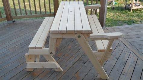 folding bench picnic table combo kreg owners community