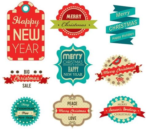 new year label vector free happy new year label set vector titanui