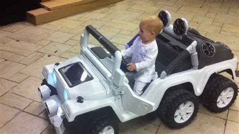 power wheels jeep white modified power wheels jeep stretched w awesome stereo