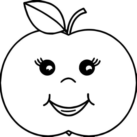 cartoon apple coloring pages cartoon girl apple coloring page wecoloringpage