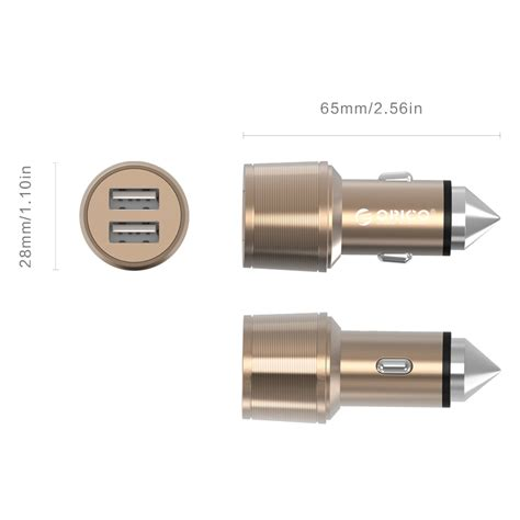 Orico Dual Usb Car Charger 2 4a For Smartphone Ucl 2u orico dual usb car charger safety hammer 2 4a for smartphone uci 2u golden jakartanotebook