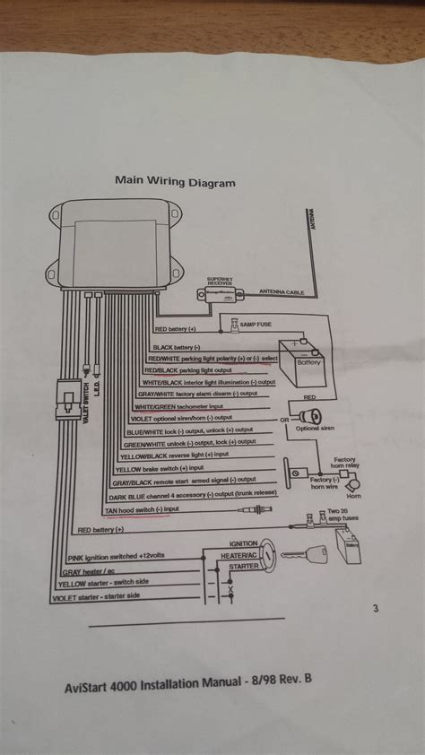 avital remote start installation wiring diagrams wiring
