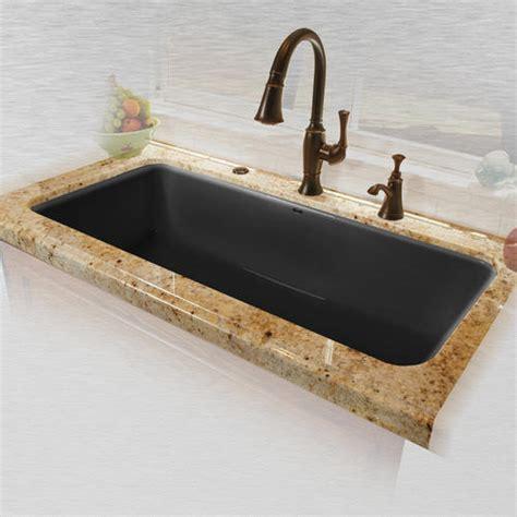 Ceco Kitchen Sinks Ceco Vilano 741 43 Quot X 19 1 2 Quot X 10 Quot Cast Iron Single Bowl Undermount Kitchen Sink At Menards 174
