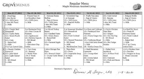 Cycle Menu Nursing Home Related Keywords Cycle Menu Nursing Home Long Tail Keywords Keywordsking Assisted Living Menu Template
