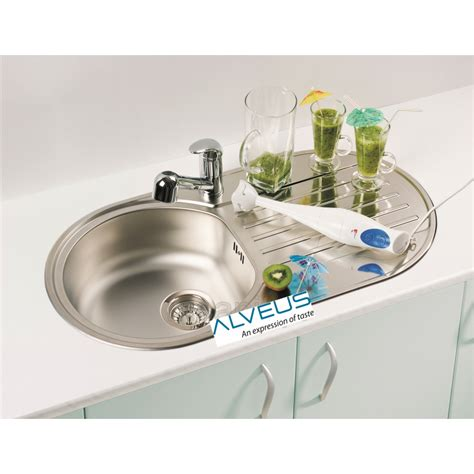 Kitchen Sink Plumbing Kit Alveus Form 40 Single 1 0 Bowl Drainer Stainless Steel Kitchen Sink Plumbing Kit