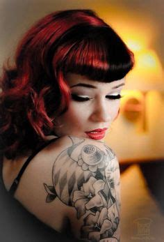 rockabilly bang curl rockabilly bangs on pinterest bandana hairstyles