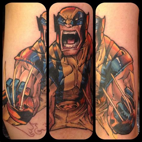 wolverine tattoos great comic book tattoos comic book critic