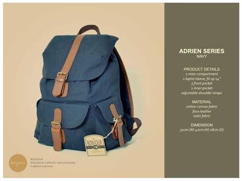 Tas Ransel Backpack Bonjour Alphonse Series tas denim jual tas bonjour bandung