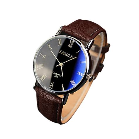 watches relojes luxury fashion faux leather mens