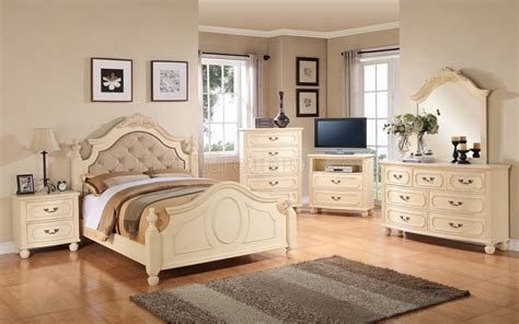 ga pc bedroom set  beige  glory furniture