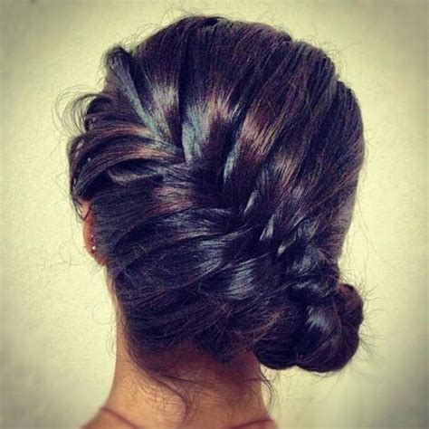 french braid bun on empire updo braid buns and beauty tips on pinterest