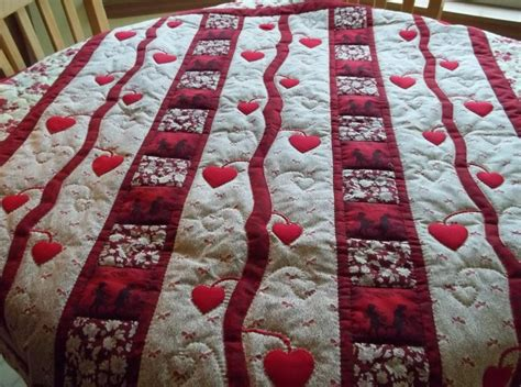 valentines day quilt quilted wall hanginglap