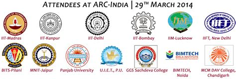 educational institute logo design sle for india alumni relations conference attendees arc first edition