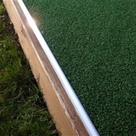 aluminium edge trim artificial grass fitting