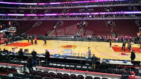 Section 122 United Center united center section 122 chicago bulls rateyourseats